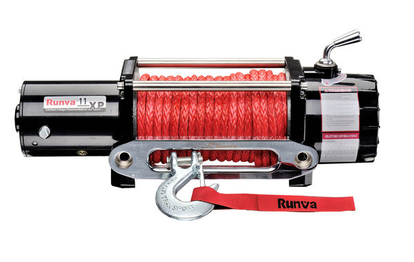 Runva 11XP 12V with Synthetic Rope (BLACK)
