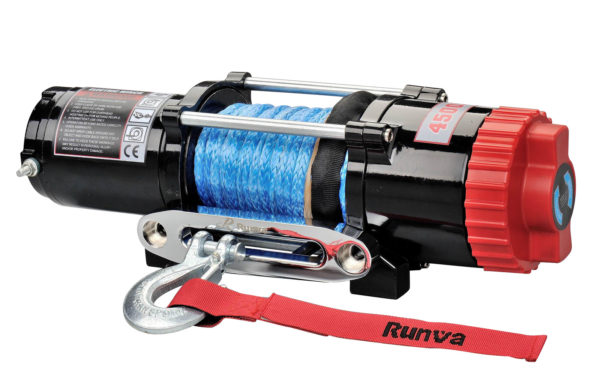 Runva EWT4500 12V with Synthetic Rope